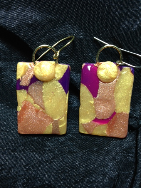 PurpleGoldBronzeEarrings